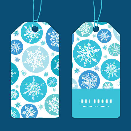 Vector round snowflakes Christmas snowflake silhouette pattern frame card template Vector