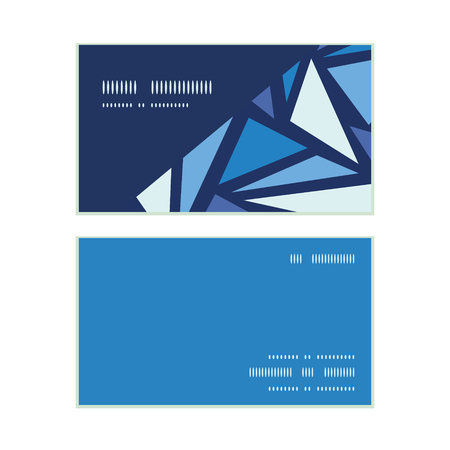 chrystals: Vector abstract ice chrystals horizontal corner frame pattern business cards set