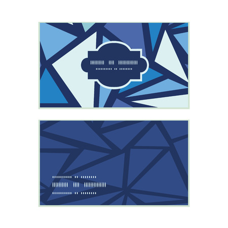 chrystals: Vector abstract ice chrystals horizontal frame pattern business cards set