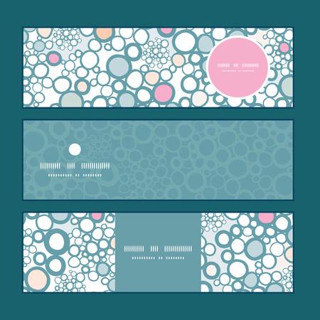 textile image: Vector colorful bubbles horizontal banners set pattern background