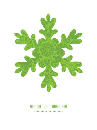 wheal: Vector abstract green and white circles Christmas snowflake silhouette pattern frame card template
