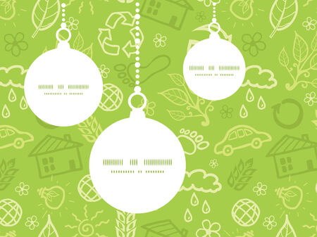 Vector environmental Christmas ornaments silhouettes pattern frame card template Vector