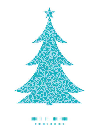 Vector abstract underwater plants Christmas tree silhouette pattern frame card template Vector