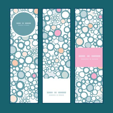textile image: Vector colorful bubbles vertical banners set pattern background