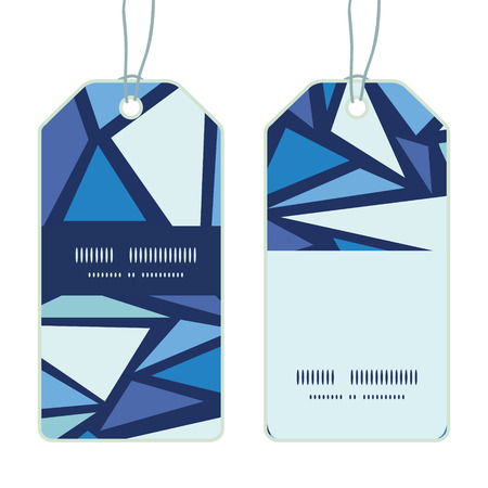 chrystals: Vector abstract ice chrystals vertical stripe frame pattern tags set
