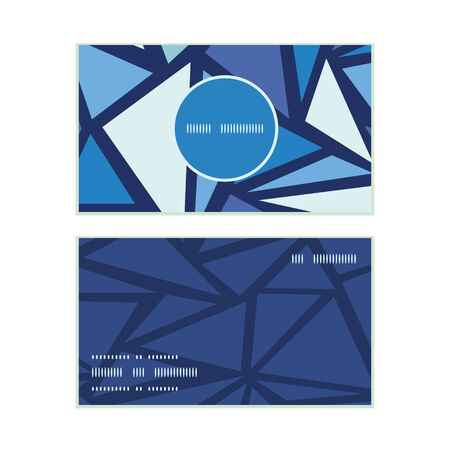 chrystals: Vector abstract ice chrystals vertical round frame pattern business cards set