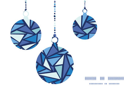 Vector abstract ice chrystals Christmas ornaments silhouettes pattern frame card template