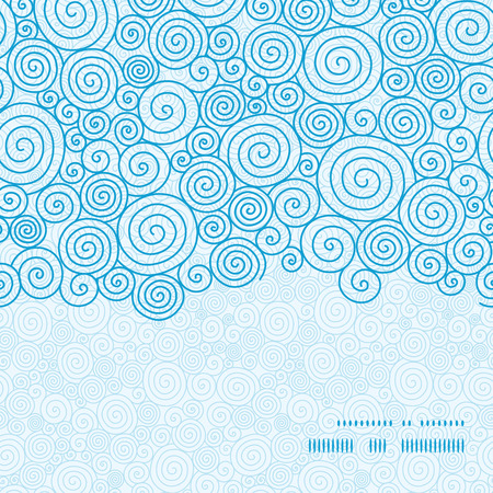 Vector abstract swirls horizontal frame seamless pattern background Vectores