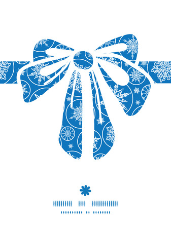 Vector falling snowflakes gift bow silhouette pattern frame Vector