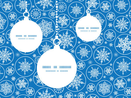 Vector falling snowflakes Christmas ornaments silhouettes pattern frame card template Vector
