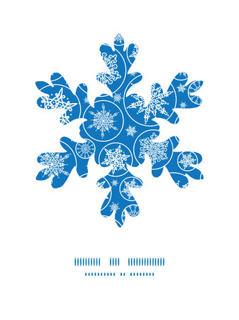 Vector falling snowflakes Christmas snowflake silhouette pattern frame card template Vector