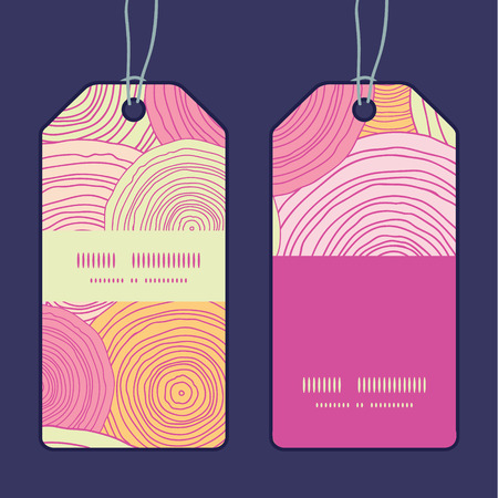 Vector doodle circle texture vertical stripe frame pattern tags set