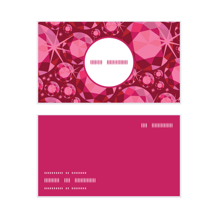 ruby: Vector ruby vertical round frame pattern business cards set