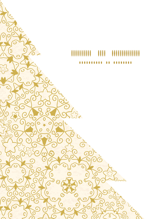 Vector abstract swirls old paper texture Christmas tree silhouette pattern frame card template