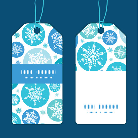 image icon: Vector round snowflakes Christmas snowflake silhouette pattern frame card template Illustration