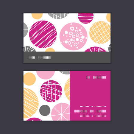 stripe: Vector abstract textured bubbles horizontal stripe frame pattern business cards set graphic design