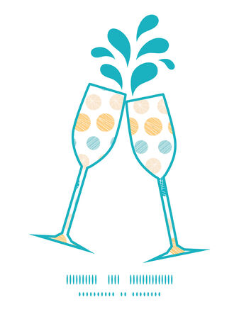 toasting wine: Vector texture circles stripes abstract toasting wine glasses silhouettes pattern frame graphic design