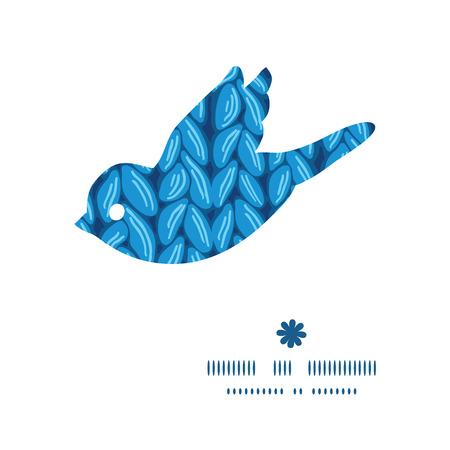 3d dove: Vector knit sewater fabric horizontal texture bird silhouette pattern frame