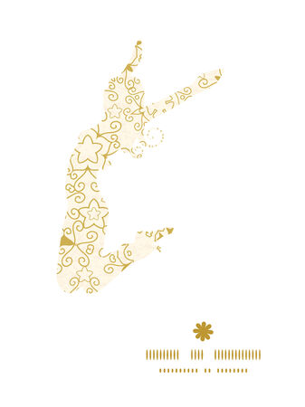 dirty girl: Vector abstract swirls old paper texture jumping girl silhouette pattern frame Illustration