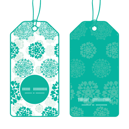wheal: Vector abstract green decorative circles stars striped vertical round frame pattern tags set