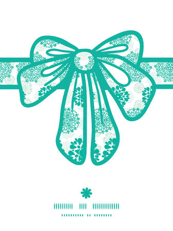 wheal: Vector abstract green decorative circles stars striped gift bow silhouette pattern frame