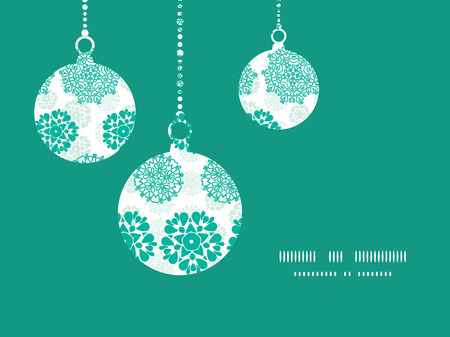 Vector abstract green decorative circles stars striped Christmas ornaments silhouettes pattern frame card template