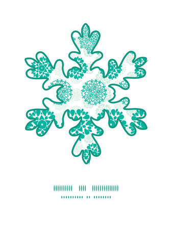 wheal: Vector abstract green decorative circles stars striped Christmas snowflake silhouette pattern frame card template Illustration