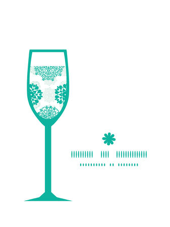 wheal: Vector abstract green decorative circles stars striped wine glass silhouette pattern frame