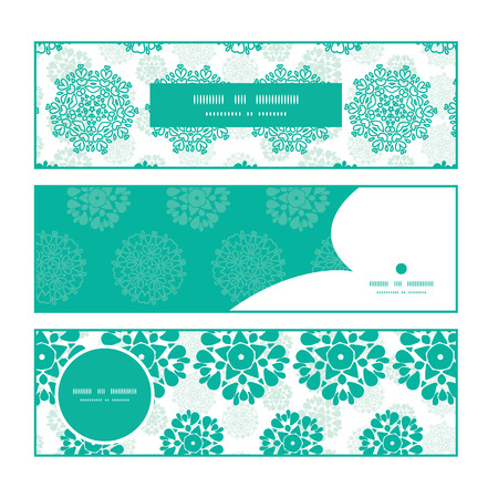 wheal: Vector abstract green decorative circles stars striped horizontal banners set pattern background
