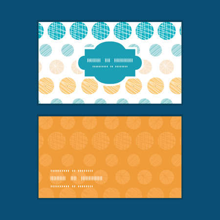 Vector texture circles stripes abstract horizontal frame pattern business cards set