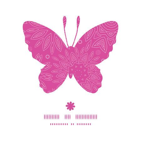 papillon: Vecteur rose fleurs abstraites texture papillon silhouette pattern frame
