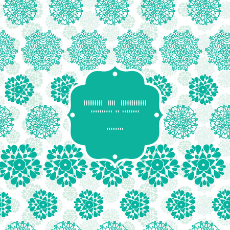 wheal: Vector abstract green decorative circles stars striped frame seamless pattern background