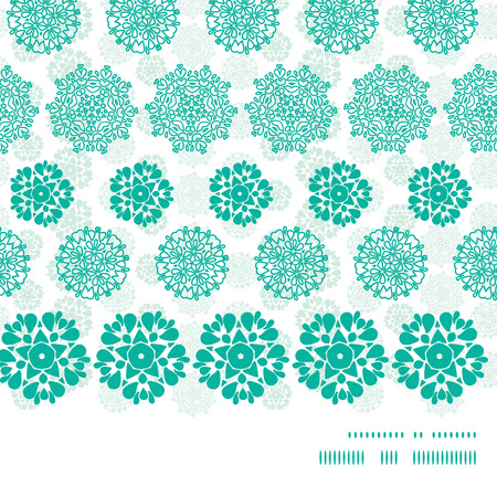 wheal: Vector abstract green decorative circles stars striped horizontal frame seamless pattern background Illustration
