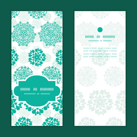 wheal: Vector abstract green decorative circles stars striped vertical frame pattern invitation greeting cards set