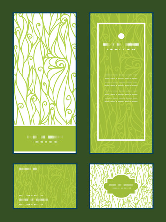 rsvp: Vector abstract swirls texture vertical frame pattern invitation greeting, RSVP and thank you cards set