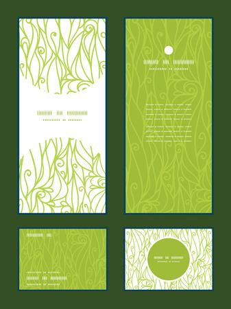 tarjeta de invitacion: Vector abstracto remolinos invitacion textura patr�n de estructura vertical, RSVP y gracias carda conjunto