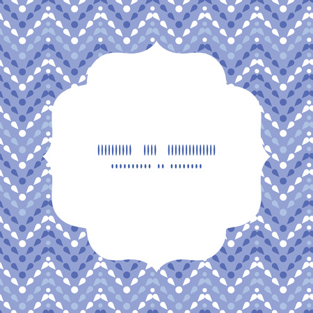 Vector purple drops chevron circle frame seamless pattern background Vector