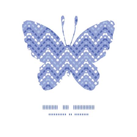 Vector purple drops chevron butterfly silhouette pattern frame Vector