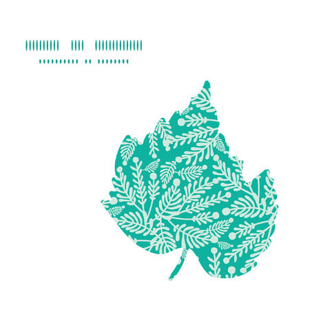 emerald: Vector emerald green plants leaf silhouette pattern frame