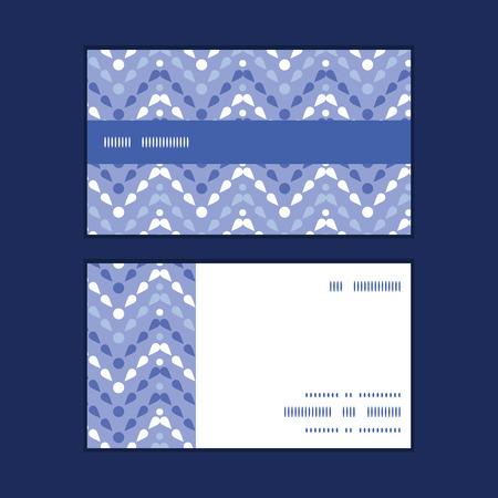 Vector purple drops chevron horizontal stripe frame pattern business cards set Vector