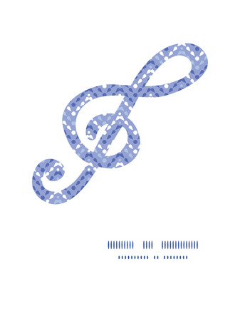 Vector purple drops chevron gclef musical silhouette pattern frame Vector