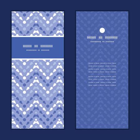 Vector purple drops chevron vertical frame pattern invitation greeting cards set Vector