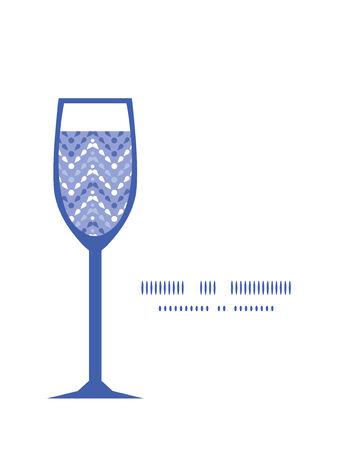 Vector purple drops chevron wine glass silhouette pattern frame Vector