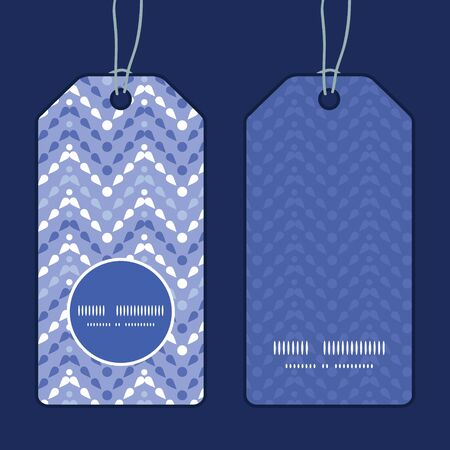 Vector purple drops chevron vertical round frame pattern tags set Vector