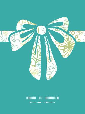 Vector mysteus groene cadeau tuin boog silhouet patroonframe