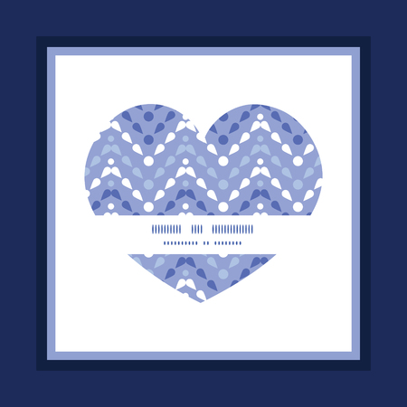 Vector purple drops chevron heart symbol frame pattern invitation greeting card template