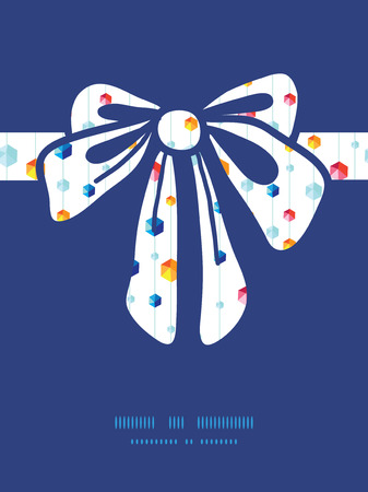 jewels: Vector abstract hanging jewels striped gift bow silhouette pattern frame Illustration