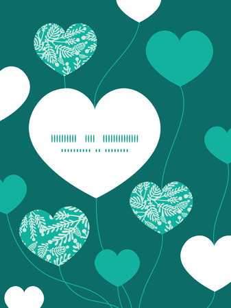 Vector emerald green plants heart symbol frame pattern invitation 35983098 vector emerald green plants heart symbol frame pattern invitation greeting card template stopboris Image collections