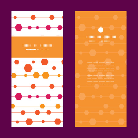 detail invitation: Vector abstract colorful stripes and shapes vertical frame pattern invitation greeting cards set