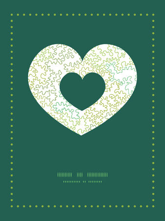 Vector curly doodle shapes heart symbol frame pattern invitation greeting card template Stok Fotoğraf - 36110775